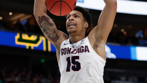 <p>               Gonzaga forward Brandon Clarke dunks during the first half of the team's second-round game against Baylor in the NCAA men's college basketball tournament Saturday, March 23, 2019, in Salt Lake City. (AP Photo/Jeff Swinger)             </p>