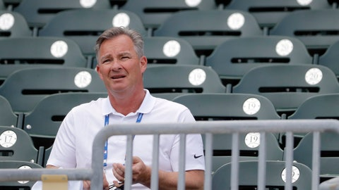 <p>               Gary Denbo sits in the stands at Roger Dean Stadium before the start of an exhibition spring training baseball game between the Miami Marlins and the Washington Nationals Friday, March 1, 2019, in Jupiter, Fla. A bond between two Yankees formed in early 1990s when Gary Denbo became Derek Jeter's mentor. Now they've changed teams and are trying to lead the Miami Marlins out of the wilderness, with Denbo playing a key role as vice president of scouting and player development.(AP Photo/Jeff Roberson)             </p>