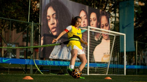<p>               Sara Pulecio, who played for Colombia's soccer club La Equidad, controls the ball during a soccer clinic for professional female players in Bogota, Colombia, Friday, March 8, 2019. Pulecio has represented Colombia in five international tournaments but has barely trained since the season ended last May and could be out of a job altogether this year, as soccer officials contemplate cancelling the local women's' league, due to its poor economic performance. (AP Photo/Fernando Vergara)             </p>