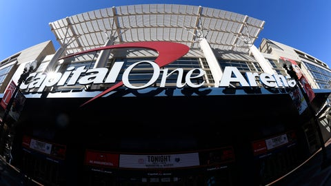 <p>               In this photograph taken with a fisheye lens, the exterior view of Capital One Arena is seen, Saturday, March 16, 2019, in Washington. As the NCAA prepares to stage its first basketball championships since the Supreme Court allowed legal sports betting in any state that wants it, the organization remains opposed to gambling on its events. But it's not denying reality, either. The NCAA had a longtime ban on bringing its championships to places where gambling on sports was legal. That was suspended last year in the wake of the Supreme Court decision. This year, three women's games will be played in Mississippi, where people have been betting on college sports since last summer, and men's games will be played in Washington at Capital One Arena, which could have a full-service onsite sportsbook by this time next year under a new law.  (AP Photo/Nick Wass)             </p>