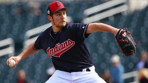 <p>               FILE - In this Feb. 25, 2019 file photo, Cleveland Indians starting pitcher Trevor Bauer throws against the Texas Rangers during the first inning of a spring training baseball game in Goodyear, Ariz.  Presumably, they will all be ready to pitch the first week of the season, establishing the order of Cleveland's starting rotation is on hold for Indians manager Terry Francona with 19 days remaining before the season opener, March 28 at Minnesota. (AP Photo/Ross D. Franklin, File)             </p>
