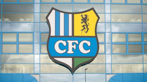 <p>               This Tuesday Aug. 2, 2016 file photo shows the logo of the Chemnitz FC soccer club at a stadium in Chemnitz, Germany. The soccer club Chemnitzer FC is under fire for allowing tributes to a deceased neo-Nazi before and during its league game on Saturday. Thomas Eisenhuth/dpa via AP, File)             </p>