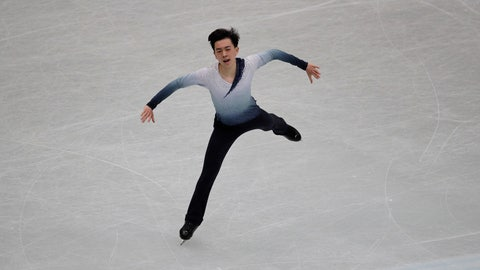 <p>               Vincent Zhou from the U.S. performs his men's short program routine during the ISU World Figure Skating Championships at Saitama Super Arena in Saitama, north of Tokyo, Thursday, March 21, 2019. (AP Photo/Andy Wong)             </p>
