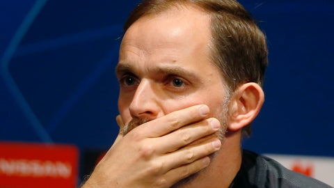 <p>               PSG coach Thomas Tuchel attends during a media conference at Stade des Princes stadium in Paris, Tuesday, march 5, 2019. PSG will play Manchester United in a Champions League match on Wednesday march 6. (AP Photo/Michel Euler)             </p>