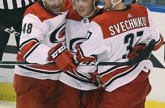 Aho scores in OT, Hurricanes beat Panthers 4-3