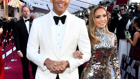 <p>               FILE - In this Sunday, Feb. 24, 2019, file photo, Alex Rodriguez, left, and Jennifer Lopez arrive at the Oscars at the Dolby Theatre in Los Angeles. Rodriguez and Lopez are engaged. The couple posted an Instagram photo of their hands with a massive engagement ring on Lopez's ring finger. (Photo by Charles Sykes/Invision/AP, File)             </p>
