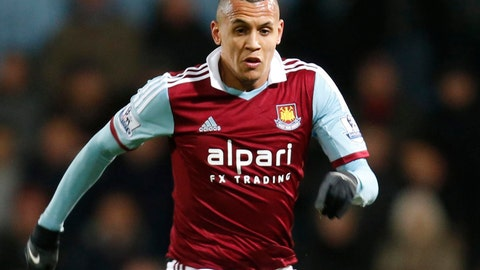 <p>               FILE - In this Saturday, Nov. 30, 2013 file photo, West Ham United's Ravel Morrison in action against Fulham during their English Premier League soccer match in London. Ravel Morrison is going to great lengths to revive his soccer career that started at Manchester United before he was sold following concerns over his attitude and he is scheduled to make his debut for Ostersund in Sweden upcoming Sunday March 31, 2019. (AP Photo/Lefteris Pitarakis, File)             </p>
