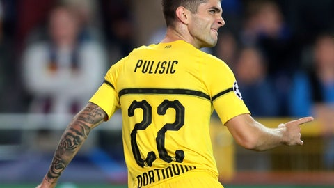 "<p>               FILE - In this Sept. 18, 2018, file photo Borussia Dortmund's Christian Pulisic celebrates scoring his side's first goal during a Champions League group A soccer match between Club Brugge and Borussia Dortmund at the Jan Breydel Stadium in Bruges, Belgium. Pulisic has a vision of how opponents will view the Americans: ""I don't want them to see them as just the U.S. I want them to fear them like a big team."" (AP Photo/Francisco Seco, File)             </p>"