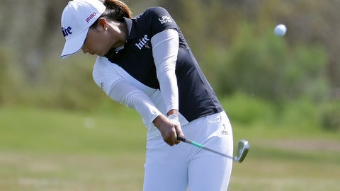 <p>               Jin Young Ko hits from the third fairway during the final round of the Founders Cup LPGA golf tournament Sunday, March 24, 2019, in Phoenix. (AP Photo/Matt York)             </p>