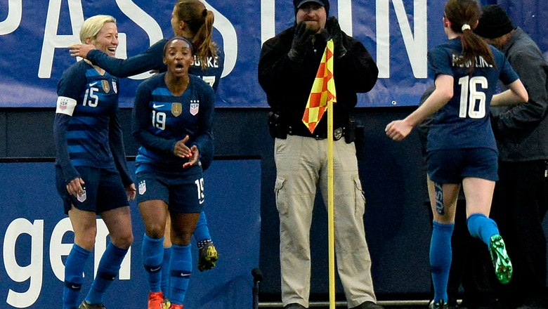 Heath scores as US women tie England 2-2 at SheBelieves Cup