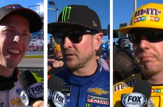 Brad Keselowski, Kurt & Kyle Busch, & Kevin Harvick comment on their top 5 runs in Las Vegas