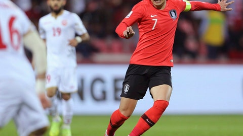 <p>               FILE - In this Jan. 22, 2019, file photo, South Korea's forward Son Heung-min runs with the ball during the AFC Asian Cup round of 16 soccer match between South Korea and Bahrain at the Rashid Stadium in Dubai, United Arab Emirates. Son Heung-min is among those players already calling for patience. The Tottenham star, South Korea's biggest soccer export, wants fans to allow the national team time to build for the tournament to be held in Qatar. (AP Photo/Kamran Jebreili, File)             </p>