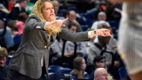 <p>               FILE - In this Dec. 28, 2018, file photo, Maryland coach Brenda Frese leads her team during the second half of an NCAA college basketball game against Penn State, in State College, Pa. Iowa and Maryland tussled for the Big Ten title all season, with the Terrapins emerging as the outright champions despite a loss in Iowa City in late February. The Hawkeyes might get another crack at the Terps in Chicago this weekend _ with a shot at their first Big Ten tournament title since 2001. (AP Photo/John Beale, File)             </p>