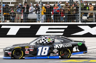 The Latest: Newman, Bowman to back of Cup field at Texas