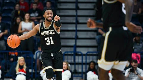 <p>               Wofford guard Donovan Theme-Love (31) calls a play during the first half of an NCAA college basketball game against Samford Saturday, March 2, 2019, in Birmingham, Ala. (AP Photo/Julie Bennett)             </p>