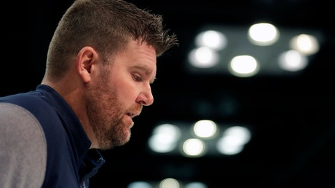 <p>               Tennessee Titans general manager Jon Robinson speaks during a press conference at the NFL football scouting combine in Indianapolis, Wednesday, Feb. 27, 2019. (AP Photo/Michael Conroy)             </p>