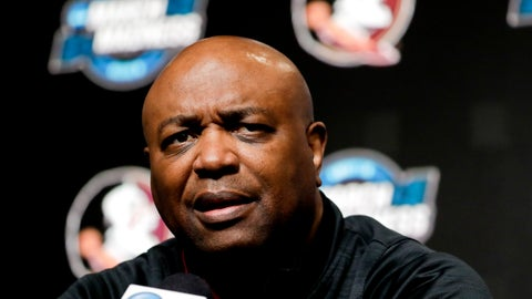 <p>               Florida State head coach Leonard Hamilton speaks during an NCAA men's college basketball news conference in Anaheim, Calif. Wednesday, March 27, 2019. Florida State plays Gonzaga in a west regional tournament semifinal on Thursday. (AP Photo/Chris Carlson)             </p>
