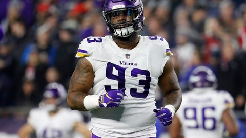 <p>               FILE - In this Dec. 2, 2018, file photo, Minnesota Vikings defensive tackle Sheldon Richardson is shown during an NFL football game against the New England Patriots, in Foxborough, Mass. (AP Photo/Winslow Townson, File)             </p>