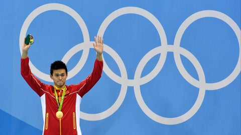 <p>               FILE - In this file photo dated Monday, Aug. 8, 2016, China's gold medal winner Sun Yang waves during the medal ceremony for the men's 200-meter freestyle final during the swimming competitions at the 2016 Summer Olympics, in Rio de Janeiro, Brazil.  China's star swimmer Sun Yang risks being banned from the Tokyo Olympics for the alleged destruction of a doping control sample, according to information made available Wednesday March 13, 2019, from the Court of Arbitration for Sport.(AP Photo/Martin Meissner, FILE)             </p>
