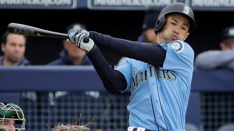 <p>               FILE - In this Friday, Feb. 22, 2019 file photo, Seattle Mariners' Ichiro Suzuki bats during the third inning of a spring training baseball game against the Oakland Athletics in Peoria, Ariz. Jerry Dipoto's first introduction to the world of Ichiro Suzuki was only a small taste compared to what the Seattle Mariners are about to experience when they open the season in Tokyo with a pair of games against the Oakland Athletics. The most decorated player ever to export his talents from Japan to the major leagues is returning home for what could be a farewell to his Hall of Fame career on both sides of the Pacific. His teammates can't wait. (AP Photo/Charlie Riedel, File)             </p>