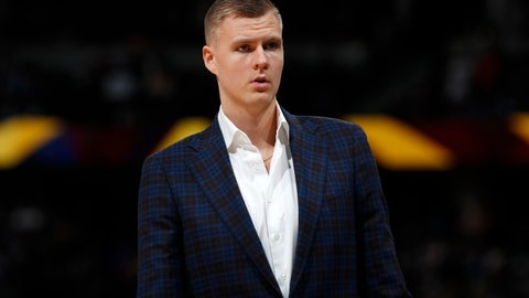 "<p>               FILE - In this March 14, 2019, file photo, Dallas Mavericks forward Kristaps Porzingis stands during the second half of the team's NBA basketball game against the Denver Nuggets in Denver. An attorney for Porzingis acknowledges that a woman has accused the NBA star of rape, but ""unequivocally"" denies the allegation. Lawyer Roland Riopelle said Saturday, March 30, that the claim against the Dallas Maverick was part of an extortion attempt that is being investigated by the FBI. (AP Photo/David Zalubowski, File)             </p>"