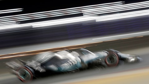 <p>               Mercedes driver Lewis Hamilton of Britain steers his car during the Baharain Formula One Grand Prix at the Bahrain International Circuit in Sakhir, Bahrain, Sunday, March 31, 2019. (AP Photo/Hassan Ammar)             </p>