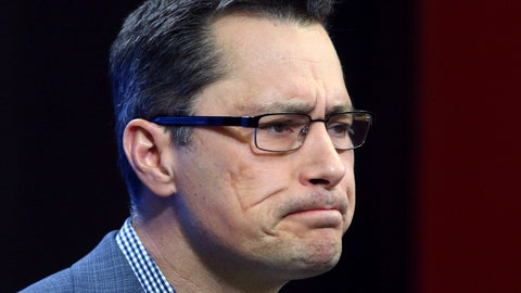 <p>               FILE - In this Nov. 6, 2018, file photo, Ottawa Senators head coach Guy Boucher speaks during news conference in Ottawa. The Senators have fired coach Guy Boucher and named Marc Crawford as the interim replacement. General manager Pierre Dorion announced the abrupt firing Friday, March 1, 2019. (Fred Chartrand/The Canadian Press via AP, File)             </p>