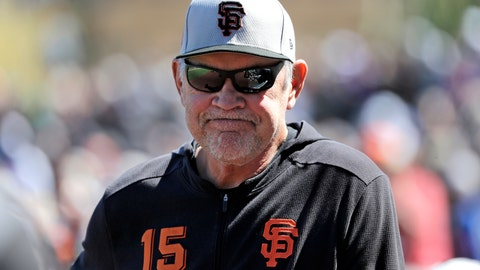 <p>               FILE - In this March 14, 2019, file photo, San Francisco Giants manager Bruce Bochy stands on the field before a spring training baseball game against the Arizona Diamondbacks in Scottsdale, Ariz. Bochy has long been a manager who made it about his players, the men he writes into the lineup day after day, month after month. That's a big reason San Francisco's veteran, likely Hall of Fame skipper, decided in February to make it public he will retire at the end of this season. (AP Photo/Elaine Thompson, File)             </p>