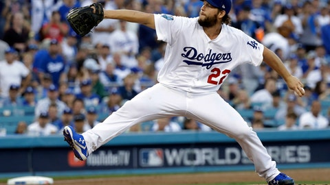 <p>               FILE - In this Oct. 28, 2018, file photo, Los Angeles Dodgers pitcher Clayton Kershaw winds up during the first inning in Game 5 of the World Series baseball game against the Boston Red Sox, in Los Angeles. Kershaw, one of the game's elite pitchers, anchors a deep rotation that is key to the team's continued success. (AP Photo/David J. Phillip, File)             </p>