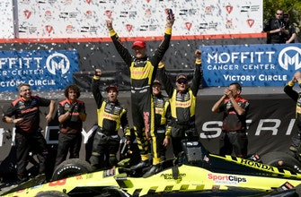 The Latest: Bourdais exits IndyCar opener with car trouble