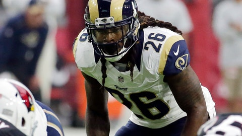 <p>               FILE - In this Oct. 2, 2016, file photo, Los Angeles Rams outside linebacker Mark Barron (26) looms over the line of scrimmage during an NFL football game against the Arizona Cardinals in Glendale, Ariz. The Pittsburgh Steelers signed Barron to a two-year deal on Tuesday, March 19, 2019.  (AP Photo/Rick Scuteri, File)             </p>
