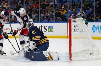 Bobrovsky stops 38 shots, Blue Jackets top Sabres 4-0