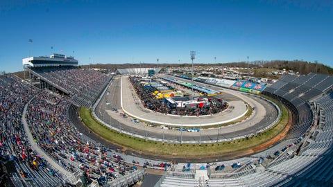 <p>               Fans enjoy the NASCAR Truck Series race at Martinsville Speedway in Martinsville, Va. Saturday, March 23. (AP Photo/Matt Bell)             </p>