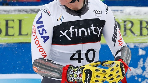 <p>               FILE - In this Dec. 1, 2018 file photo, United States' River Radamus reacts after finishing a World Cup men's super-G skiing race in Beaver Creek, Colo. Radamus has a name that screams summer and a game that's meant for winter. The 21-year-old American recently won two gold medals at the world junior championships in Italy. He's part of the next wave of American racers ready to make some waves. (AP Photo/John Locher, File)             </p>