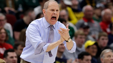 <p>               Michigan head coach John Beilein directs his team during the first half of an NCAA college basketball game against Minnesota in the semifinals of the Big Ten Conference tournament, Saturday, March 16, 2019, in Chicago. (AP Photo/Nam Y. Huh)             </p>