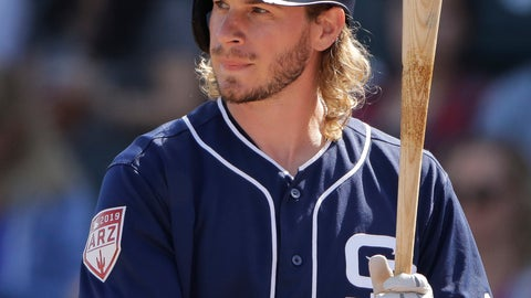 <p>               FILE - In this Feb. 28, 2019, file photo, San Diego Padres' Travis Jankowski bats during the second inning of a spring training baseball game against the Kansas City Royals, in Surprise, Ariz. Padres outfielder Travis Jankowski will miss the first couple months of the season after breaking a bone in his right wrist while diving to catch a fly ball against Texas. Padres manager Andy Green said Tuesday, March 5, 2019, an MRI revealed the fracture and Jankowski will have surgery this week.(AP Photo/Charlie Riedel, File)             </p>