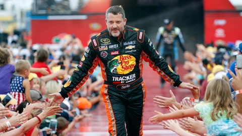 <p>               FILE - In this July 2, 2016, file photo, Tony Stewart is greeted by fans during driver introductions before the start of the NASCAR Sprint Cup auto race at Daytona International Speedway in Daytona Beach, Fla. The three-time NASCAR champion headlined the six new nominees eligible for induction into the NASCAR Hall of Fame that were announced Wednesday, March 13, 2019. (AP Photo/Wilfredo Lee, File)             </p>