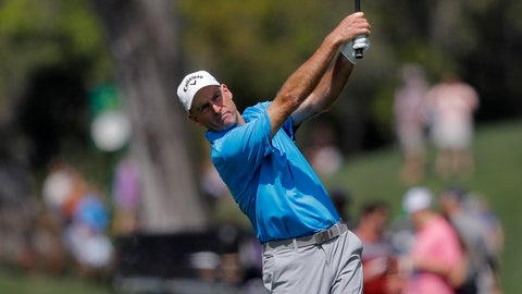 <p>               Jim Furyk hits his second shot off the 16th fairway during the second round of The Players Championship golf tournament Friday, March 15, 2019, in Ponte Vedra Beach, Fla. (AP Photo/Gerald Herbert)             </p>