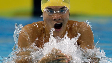 <p>               FILE - In this Saturday, Dec. 18, 2010 file photo, Kenneth To from Australia swims a Men's 100 meter Individual Medley heat at the FINA Short Course Swimming World Championships in Dubai, United Arab Emirates. Kenneth To, a former swimming world championships medalist for Australia, died Tuesday March 19, 2019, after falling ill training with the University of Florida. He was aged 26. (AP Photo/Michael Sohn, File)             </p>