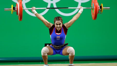 <p>               FILE - In this Saturday, Aug. 6, 2016 file photo, Sopita Tanasan of Thailand competes in the women's 48kg weightlifting competition at the 2016 Summer Olympics in Rio de Janeiro, Brazil. Thailand has volunteered to ban itself from Tokyo Olympic Games weightlifting next year because of doping, it was announced on Friday March 8, 2019, dealing another blow to a sport whose place on the Olympic program is precarious. (AP Photo/Mike Groll, File)             </p>