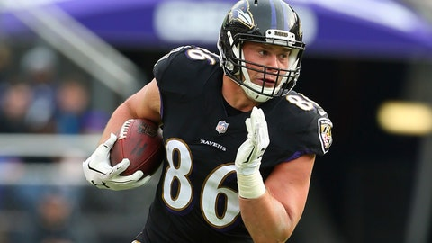 <p>               FILE - In this Nov. 18, 2018, file photo, Baltimore Ravens tight end Nick Boyle runs against the Cincinnati Bengals during an NFL football game, in Baltimore. The Ravens have signed Nick Boyle to a three-year contract, the latest in a series of moves by first-year general manager Eric DeCosta during a busy offseason. Though Boyle has not scored a touchdown over his four NFL seasons, the 6-foot-4, 270-pounder has value that transcends catches and scores. (AP Photo/Rich Schultz, File)             </p>