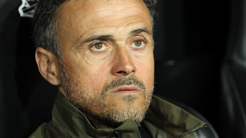 <p>               Spain's Luis Enrique sits prior to the start of the Euro 2020 group F qualifying soccer match between Spain and Norway at the Mestalla stadium in Valencia, Spain, Saturday, March 23, 2019. (AP Photo/Alberto Saiz)             </p>