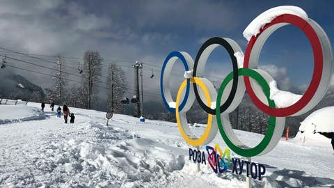<p>               In this photo taken on Sunday, March 3, 2019, tourists walk next to the Olympic rings on the mountain resort of Krasnaya Polyana near the Black Sea resort of Sochi, southern Russia. In the five years since the Sochi Olympics, Russians have been flocking south to enjoy their subtropical ski slopes. (AP Photo/James Ellingworth)             </p>