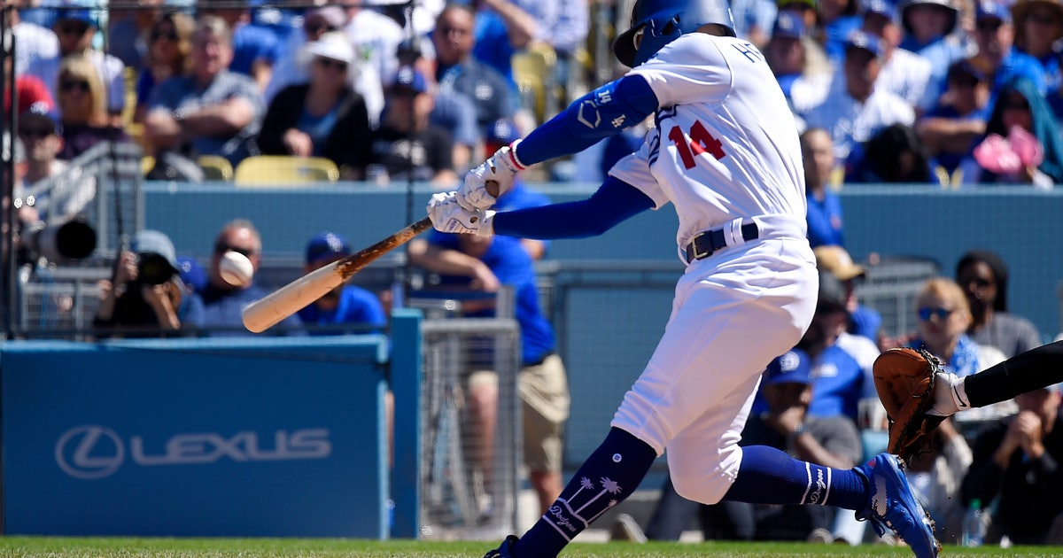 5fd05776649 Dodgers set opening day mark with 8 HRs in win over Arizona