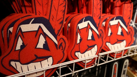 <p>               FILE - In this Jan. 29, 2018 file photo, foam images of the MLB baseball Cleveland Indians' mascot Chief Wahoo are displayed for sale at the Indians' team shop in Cleveland. The Chief Wahoo logo is being removed from the Cleveland Indians' uniform in the 2019 season, but the Club will still sell merchandise featuring the mascot in Northeast Ohio. The U.S. has spent most of 2019 coming to grips with blackface and racist imagery, but Native Americans say they don't see significant pressure applied to those who perpetuate Native American stereotypes. (AP Photo/Tony Dejak, File)             </p>