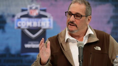 <p>               FILE - In this Feb. 27, 2019, file photo, New York Giants general manager Dave Gettleman speaks during a press conference at the NFL football scouting combine in Indianapolis. After a week of being beat up in the media over the trade of the popular star receiver Odell Beckham Jr., general manager Dave Gettleman went on the offensive, Monday, March 18, 2019, saying the trade was the best interests of the New York Giants and was a deal the organization could not refuse.  (AP Photo/Michael Conroy, File)             </p>