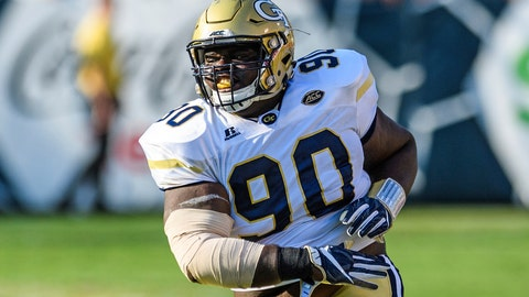 <p>               In this Saturday, Sep. 10, 2016, photo, Georgia Tech defensive lineman Brandon Adams reacts during the second half of an NCAA football game against Mercer, in Atlanta. Adams, a rising senior who was expected to be a key member of Georgia Tech's defensive line under new coach Geoff Collins, died at the age of 21, the school announced Sunday, March 24, 2019. Adams had been going through offseason workouts and was preparing for the start of spring practice when he died on campus Saturday. No cause was given. (AP Photo/Danny Karnik)             </p>