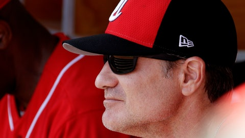 <p>               Cincinnati Reds' manager David Bell watches from the dugout during the first inning of a spring training baseball game against the Milwaukee Brewers, Sunday, March 3, 2019, in Phoenix. (AP Photo/Charlie Riedel)             </p>