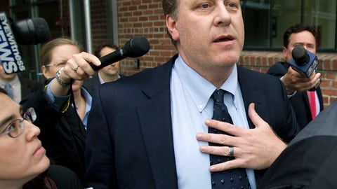 <p>               FILE - In this Wednesday, May 16, 2012, file photo, former Boston Red Sox pitcher Curt Schilling, center, is followed by members of the media as he departs the Rhode Island Economic Development Corporation headquarters, in Providence, R.I. Wells Fargo Securities has agreed to pay an $800,000 civil penalty to settle a U.S. Securities and Exchange Commission lawsuit over Rhode Island's failed $75 million deal with Schilling's 38 Studios video game company. Wells Fargo and the SEC announced the proposed settlement in filings with the U.S. District Court in Providence on Monday, March 18,2019. A federal judge must approve it. (AP Photo/Steven Senne, File)             </p>