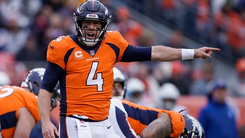 <p>               FILE - In this Dec. 30, 2018, file photo, Denver Broncos quarterback Case Keenum calls out to teammates during the first half of the team's NFL football game against the Los Angeles Chargers in Denver. A person with knowledge of the deal tells The Associated Press that the Broncos have agreed to trade Keenum to the Washington Redskins. Speaking on condition of anonymity because the deal cannot be announced until the start of the new league year March 13, the person confirmed that the teams will also swap 2020 draft picks, with Denver receiving a sixth-rounder and Washington a seventh-rounder. (AP Photo/Jack Dempsey, File)             </p>
